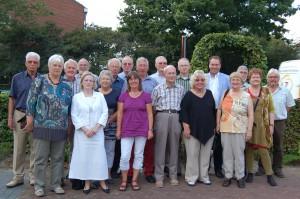 Aanwezige leden op de vijfjaarlijkse reunie van de Studiegroep 8-9-2012